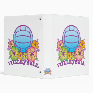 Blossom Beach Volleyball 3 Ring Binder