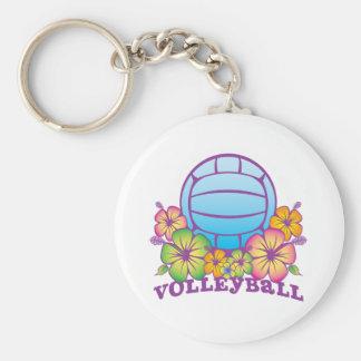 Blossom Beach Volleyball Basic Round Button Keychain