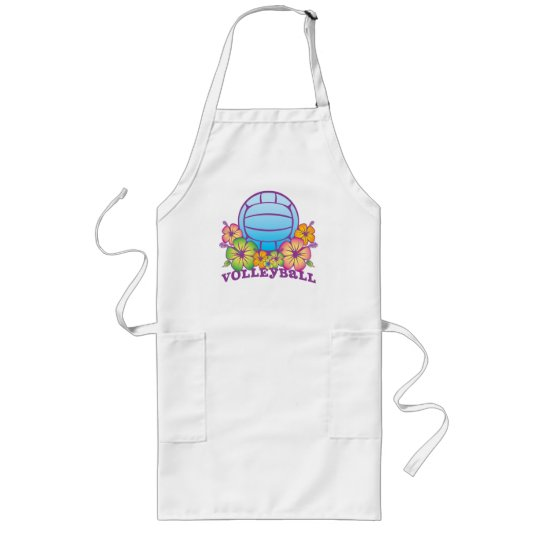 Blossom Beach Volleyball Long Apron
