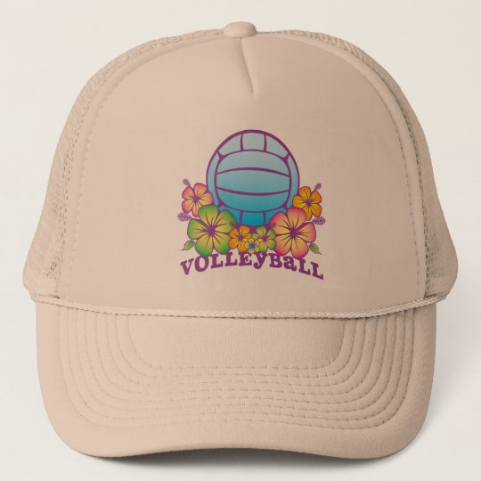 Blossom Beach Volleyball Trucker Hat