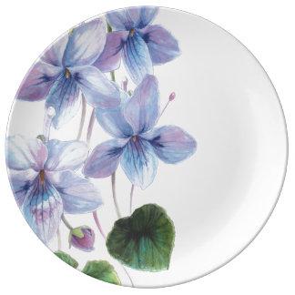 Blossom Beauties Large Porcelain Plate - Violets