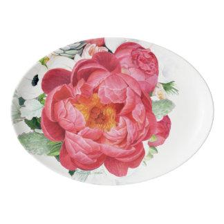 Blossom Beauties Porcelain Platter - Peony Bouquet