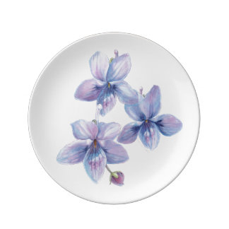 Blossom Beauties Porcelain Small - Violets Plate