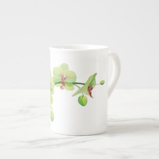 Blossom Beauties Small China Cup - Green Orchid