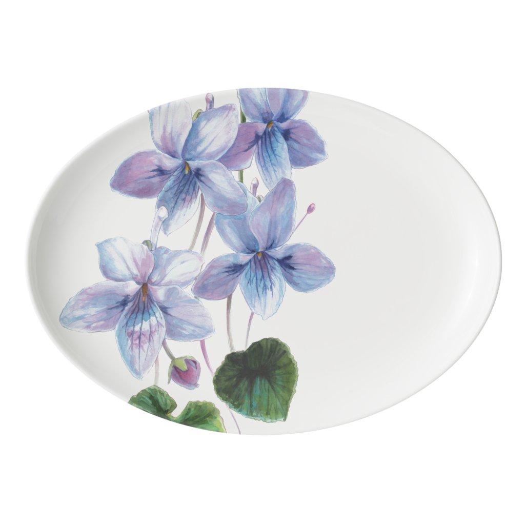 Blossom Beauties - Violets Porcelain Serving Platter