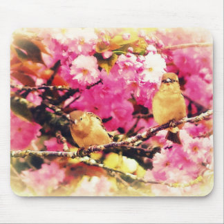 Blossom Birdies Mouse Pad