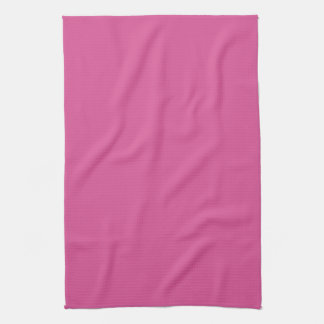 Blossom Candy Hot Pink Solid Color Background Towels