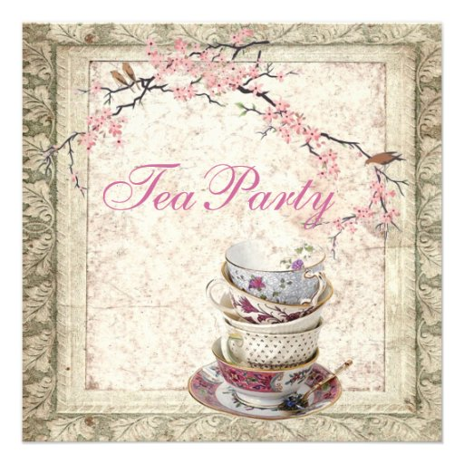 Bridal Tea Party Invitations is an amazing ideas you had to choose for invitation design