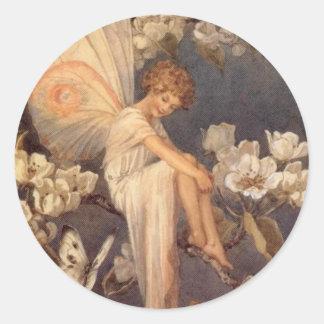 Blossom Fairy Classic Round Sticker