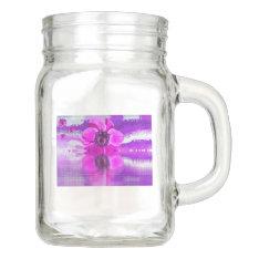 Blossom Flora Office Personalize Destiny Destiny's Mason Jar at Zazzle