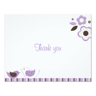 Blossom Flower Bird Thank You Note Cards
