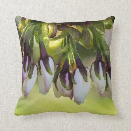 Blossom Flower Buds Throw Pillow
