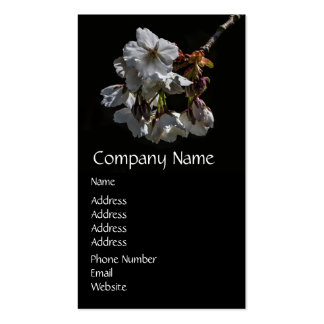 Blossom Flowers Double-Sided Standard Business Cards (Pack Of 100)