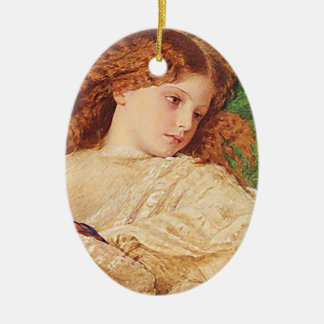 Blossom Girl Oval Hanging Ornament