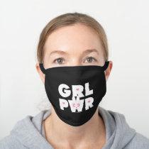 Blossom: Girl Power Black Cotton Face Mask