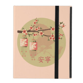 "Blossom lanterns peach green ""Peaceful"" case"