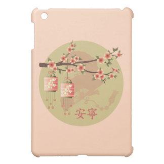"Blossom lanterns peach green ""Peaceful"" case Cover For The iPad Mini"