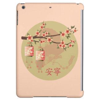"""Blossom lanterns peach green """"Peaceful"""" case iPad Air Case"""
