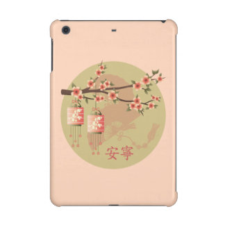 "Blossom lanterns peach green ""Peaceful"" case iPad Mini Retina Cover"
