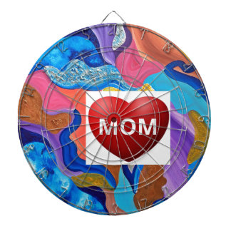 Blossom Love Mom Dartboard