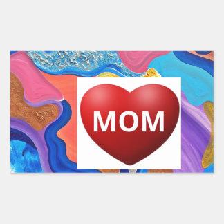 Blossom Love Mom Rectangular Sticker