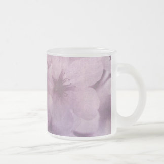 Blossom 10 Oz Frosted Glass Coffee Mug