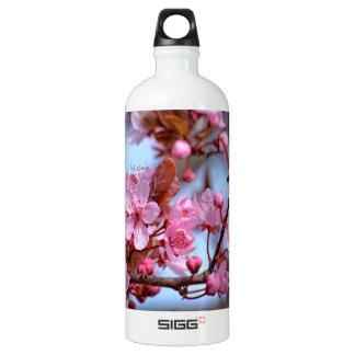 Blossom of Cherry Aluminum Water Bottle
