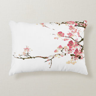 blossom pillow - pink and yellow