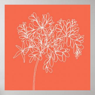 Blossom Pop Tangerine Poster