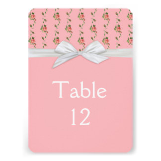 Blossom Roses Damask Table card