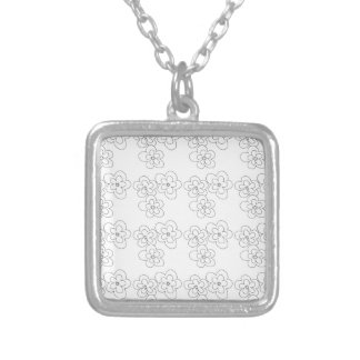 blossom silver plated necklace