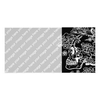 Blossom Skull Card