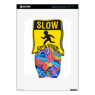 Blossom Slow Children Playing iPad 3 Decal