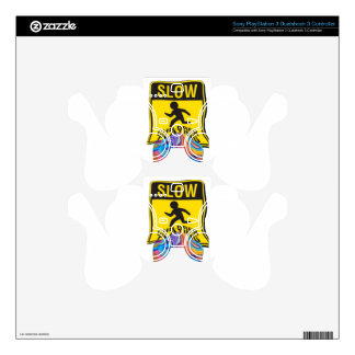 Blossom Slow Children Playing PS3 Controller Decals