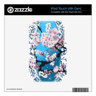 Blossom spring sakura. Elegant flower silhouette. Skins For iPod Touch 4G
