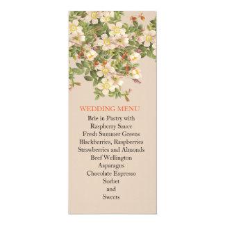 Blossom Spring Wedding Menu Custom Announcements