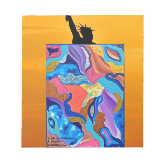 Blossom Statue Of Liberty Notepad