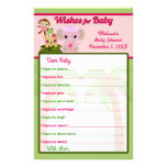 Blossom Tails Baby Shower Wishes for Baby Advice Flyers