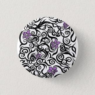 Blossom Tattoo - Tattoo Art Button Badge