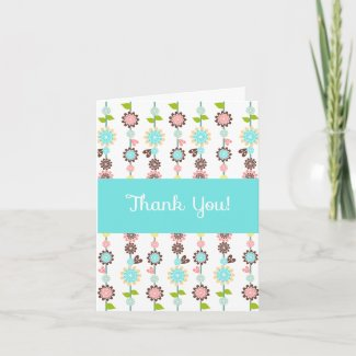 Blossom Thank You Note Card zazzle_card