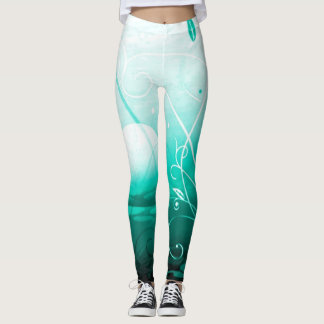 Blossom Tranquility Custom Airbrush yoga Leggings