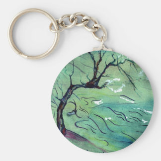 Blossom Tree & the river Key Chains