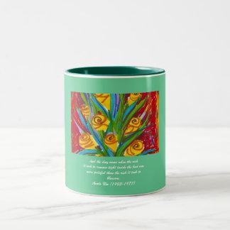 Blossom Two-Tone Coffee Mug
