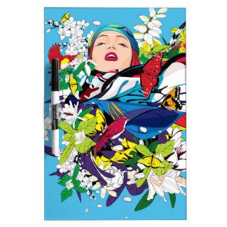 Blossom Woman Dry-Erase Board