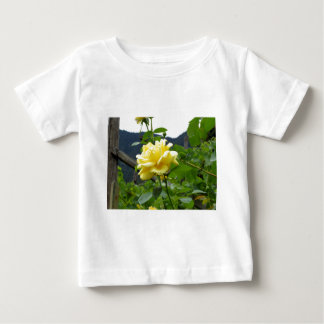 Blossom yellow rose on a mountain background shirt