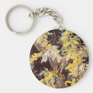 Blossoming Acacia Branches by Vincent van Gogh Key Chain