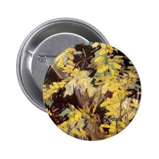Blossoming Acacia Branches Vincent van Gogh. Pinback Button