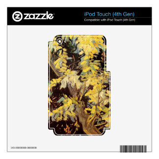 Blossoming Acacia Branches Vincent van Gogh. Skins For iPod Touch 4G