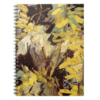 Blossoming Acacia Branches Vincent van Gogh. Spiral Notebook