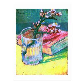 Blossoming Almond Branch Glass Book Van Gogh Fine Postcard